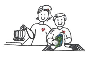 mom son cooking together illustr 2 001