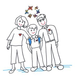 family with butterflies 001