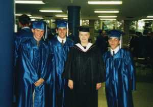 1997 Bomber Pilots w Mom at Graduation