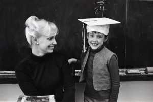 Mom & Jenn in classroom