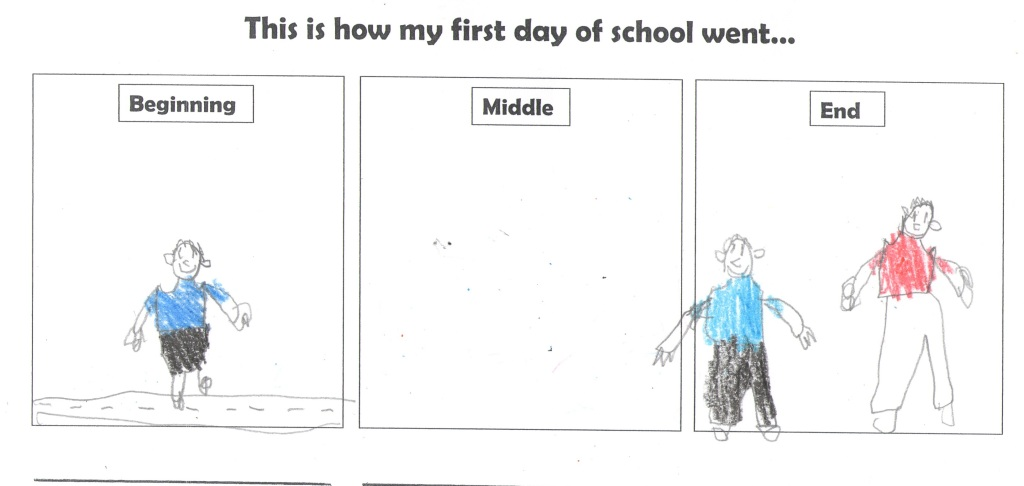 First day of school by E Miller