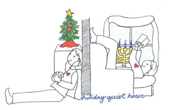 Holiday Quiet Hour 2014 illust by Jennifer Miller