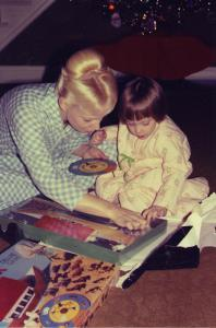 Mom (and this Blog's Editor) with Author, Jennifer Miller circa 1976-ish