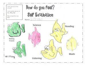 Self Evaluation from First Grade