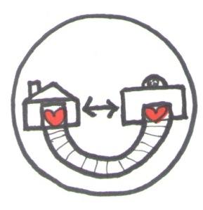 Home and School Partnerships Symbol by Jennifer Miller