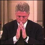 President Clinton testifies in front of the grand jury