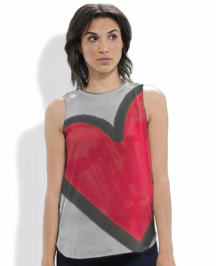 Confident Parents, Confident Kids Heart Silk Sleeveless