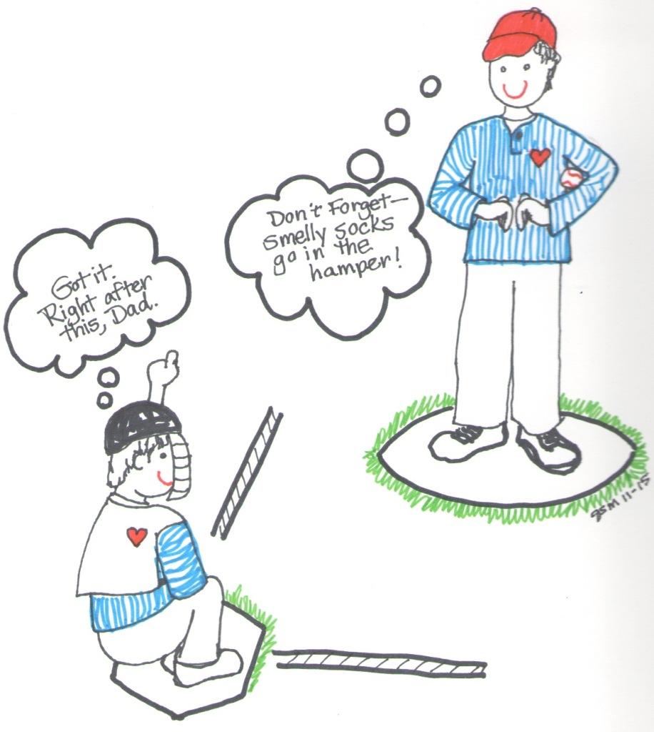 Nonverbal baseball signals by Jennifer Miller