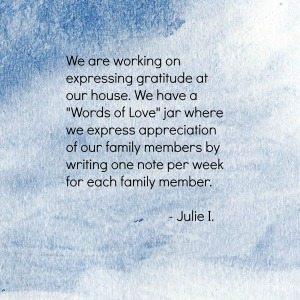 Julie I on Gratitude