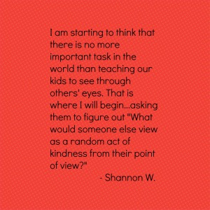 Shannon on Seeing through others' eyes