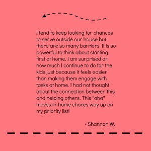 Shannon on Service and Chores
