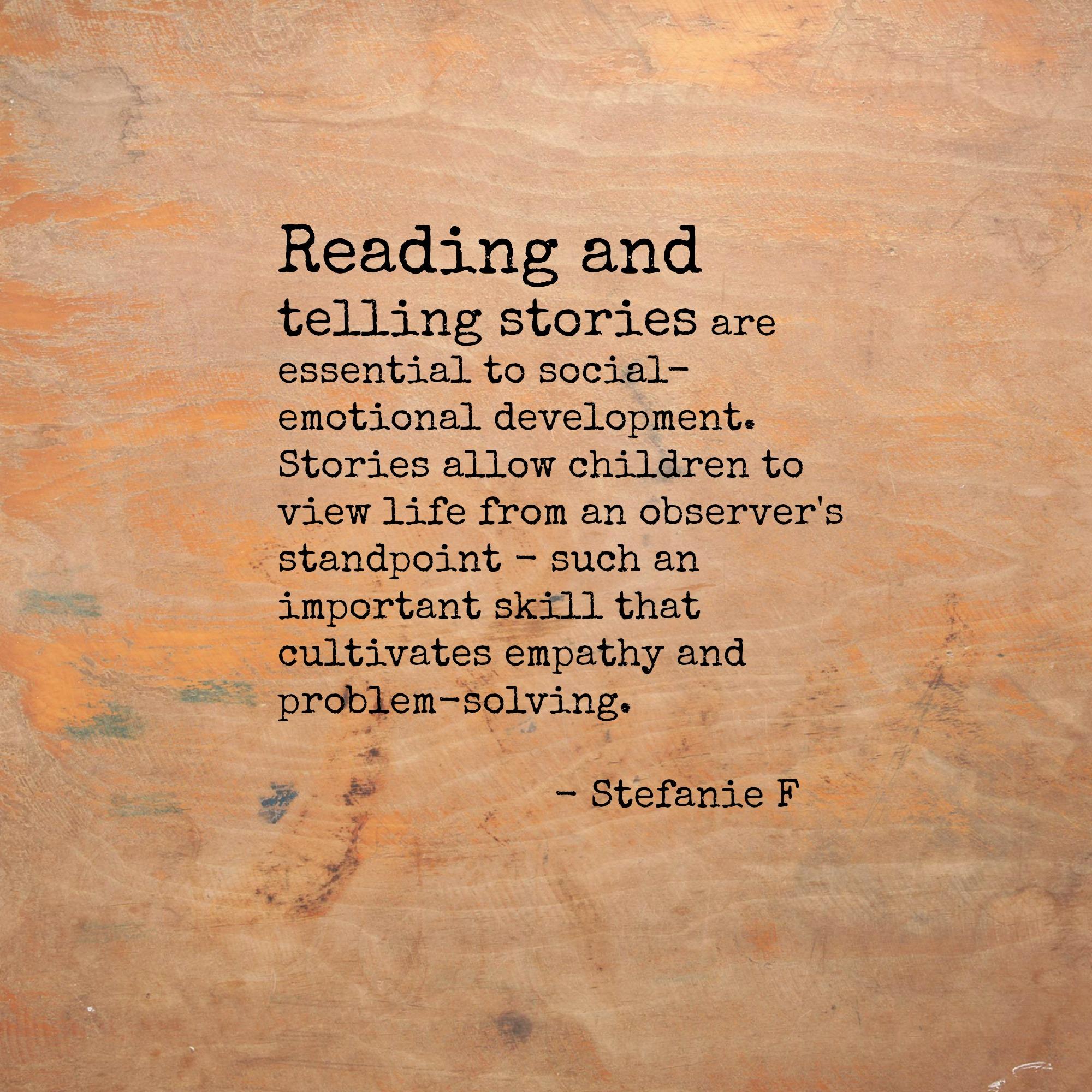 Stefanie F On Reading