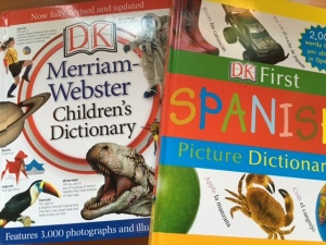 We have already used these dictionaries multiple times. I want E to get in the habit of looking up words he doesn't know (versus asking me what they mean).